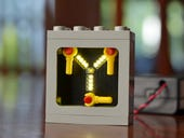 Build your own LEGO flux capacitor with animated LED lights for only $55
