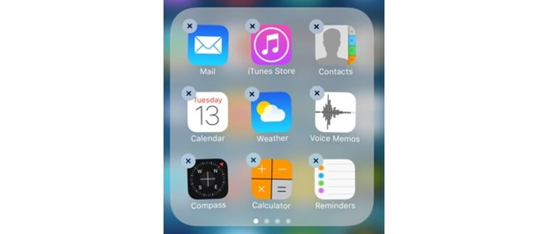 iOS 10 lets you delete built-in apps