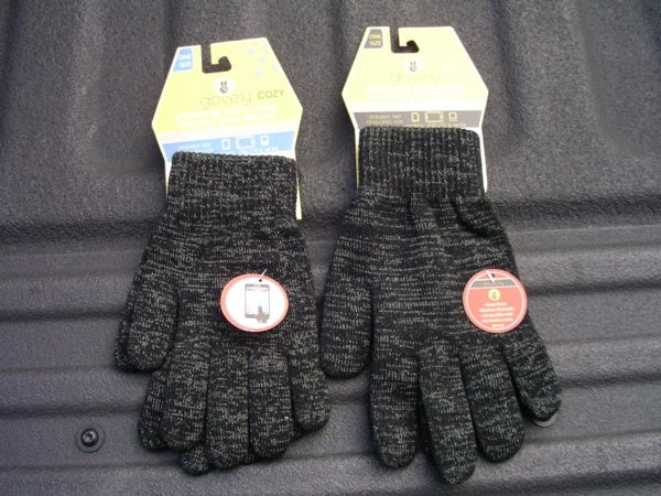 Two pairs of Glove.ly touchscreen gloves
