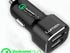 Lumex quick charge 2-port USB car charger