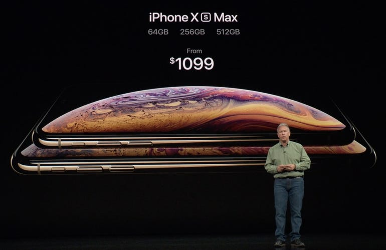 iPhone XS Max pricing and storage capacities