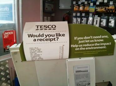 Tesco - Would you like a receipt