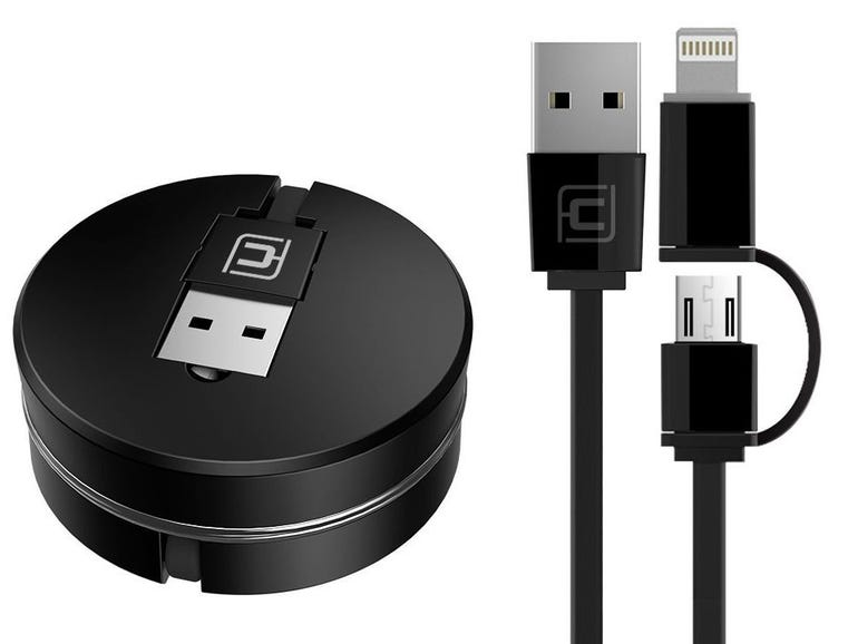A retractable 2-in-1 cable