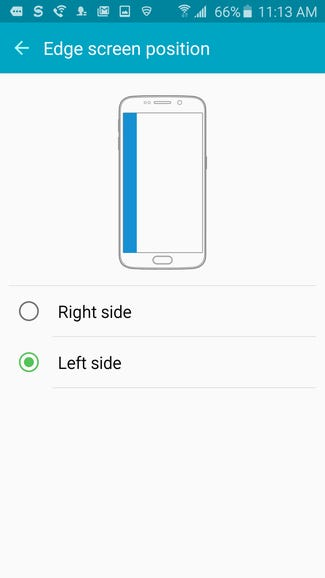 Left or right for Galaxy S6 Edge