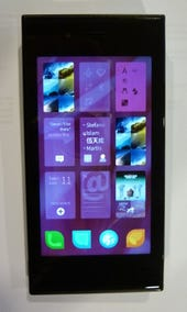 The Jolla phone in action