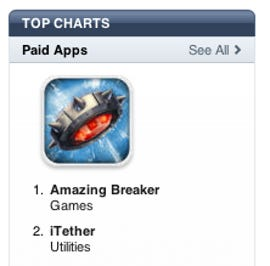 iTether is the #2 paid app in the U.S. But for how long?