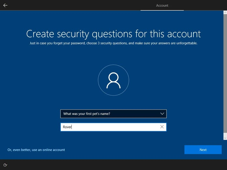 Password recovery is now supported on local accounts