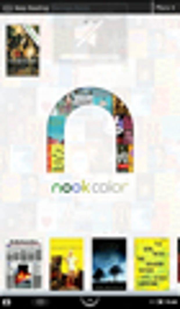 Image Gallery: B&N Nook home screen width=