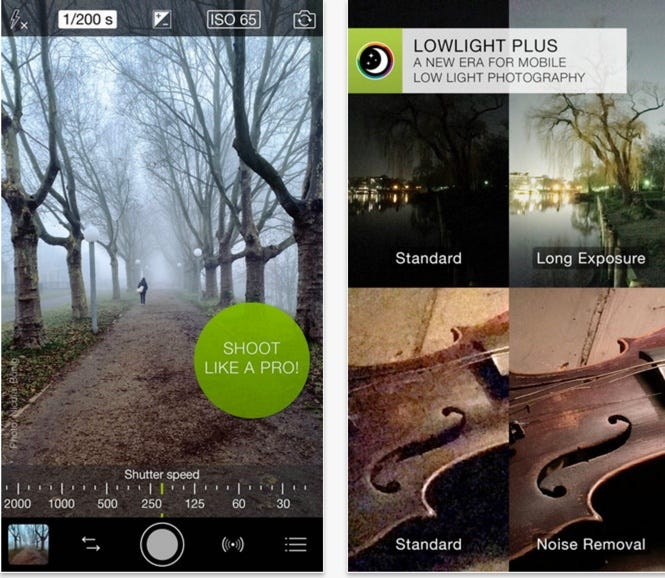 Pro photography app
