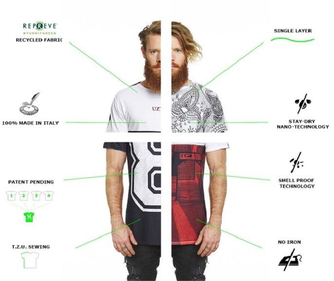 Uztzu four-in-one T-shirt