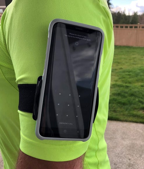 Running with the Trainr Pro and armband