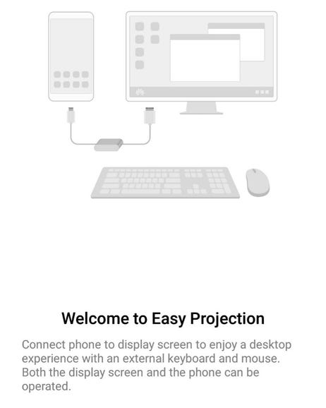 Easy Projection to an external display