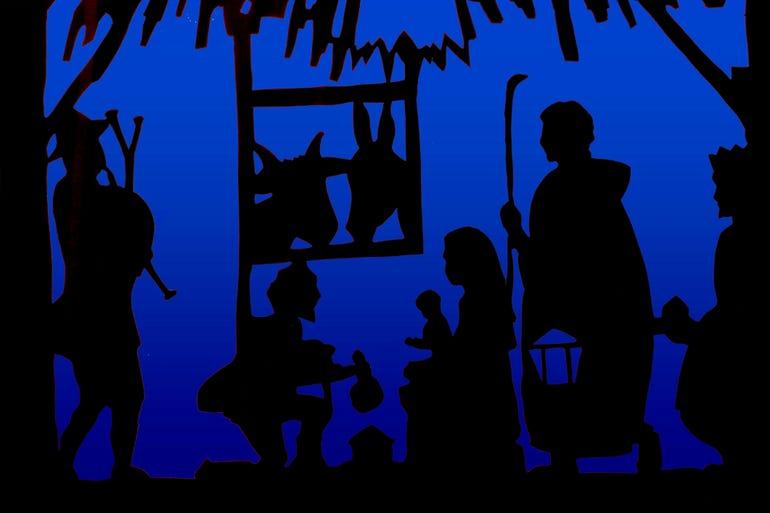 Christmas Crib silhouette