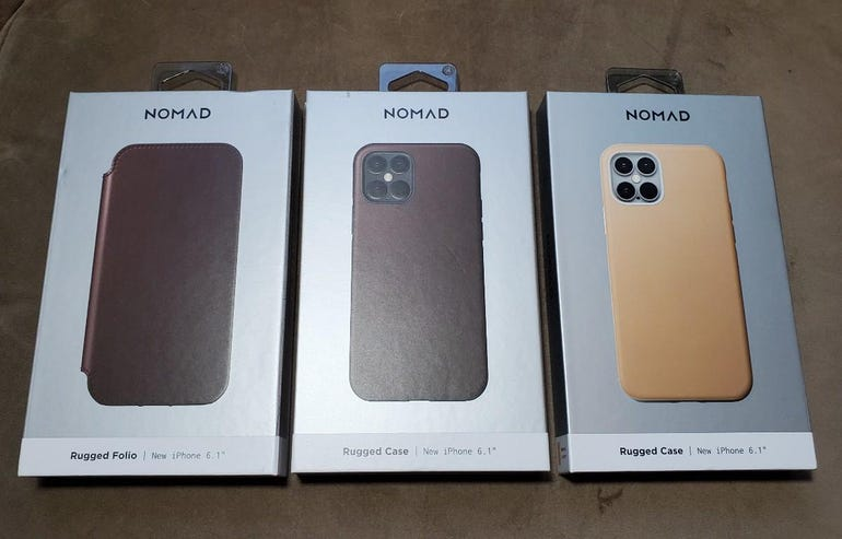 Nomad iPhone 12 case options