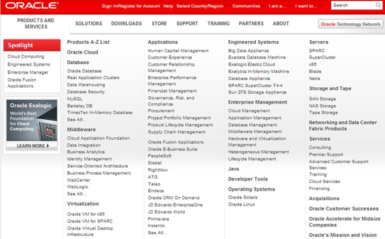 oracleproducts