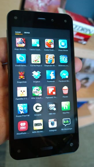 Alphabetical view of apps on the cloud and device