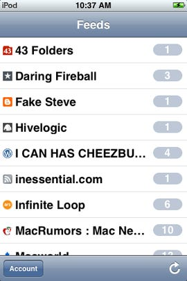 Mobile NetNewsWire iPhone client