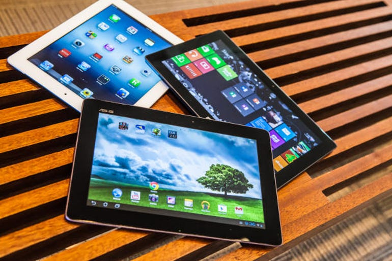 Display shootout: Microsoft Surface RT vs. iPads vs. Android Tablets - Jason O'Grady (image: CNET)