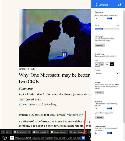 2012: With Windows 8, Microsoft splits Internet Explorer in two
