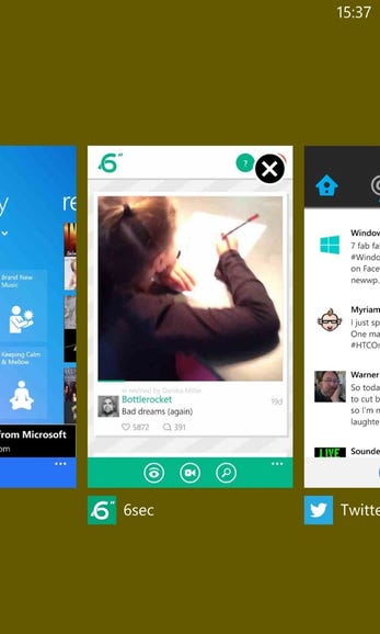 Updated task switcher on WP8