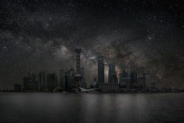 thierry-cohen-city-after-dark-shanghai-skyline