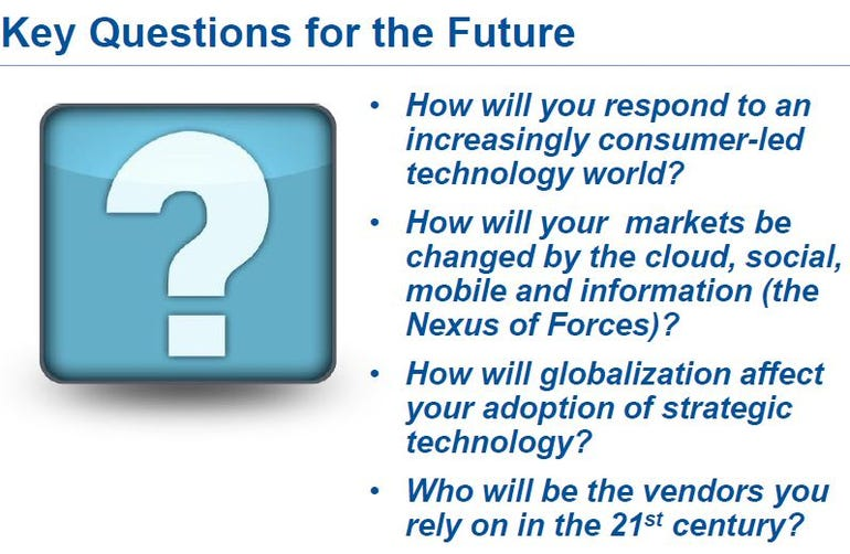 Key questions for the future