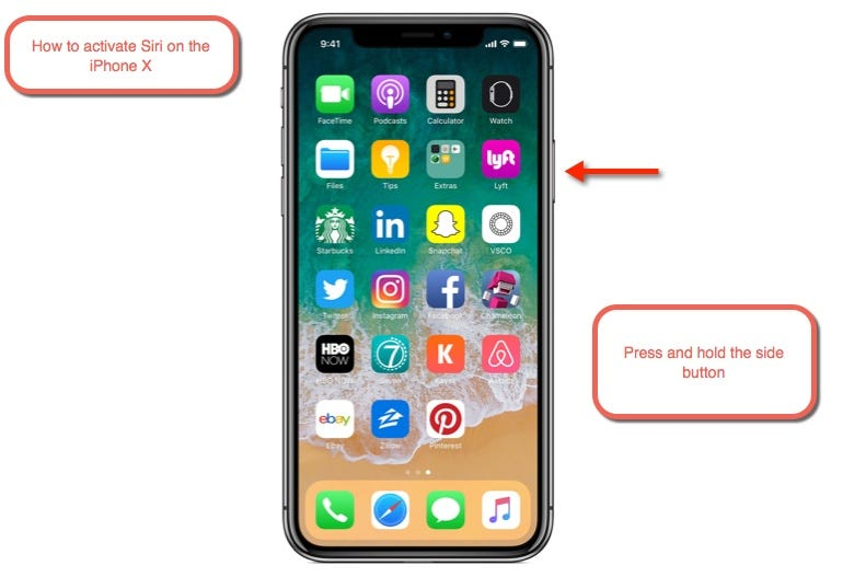 How to activate Siri on the iPhone X