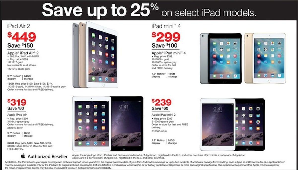 Best Black Friday 2015 Sales For Apple Ipad Air Ipad Mini Tablets Updated Zdnet