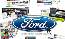Ford's marketing team were quick to get on Google+