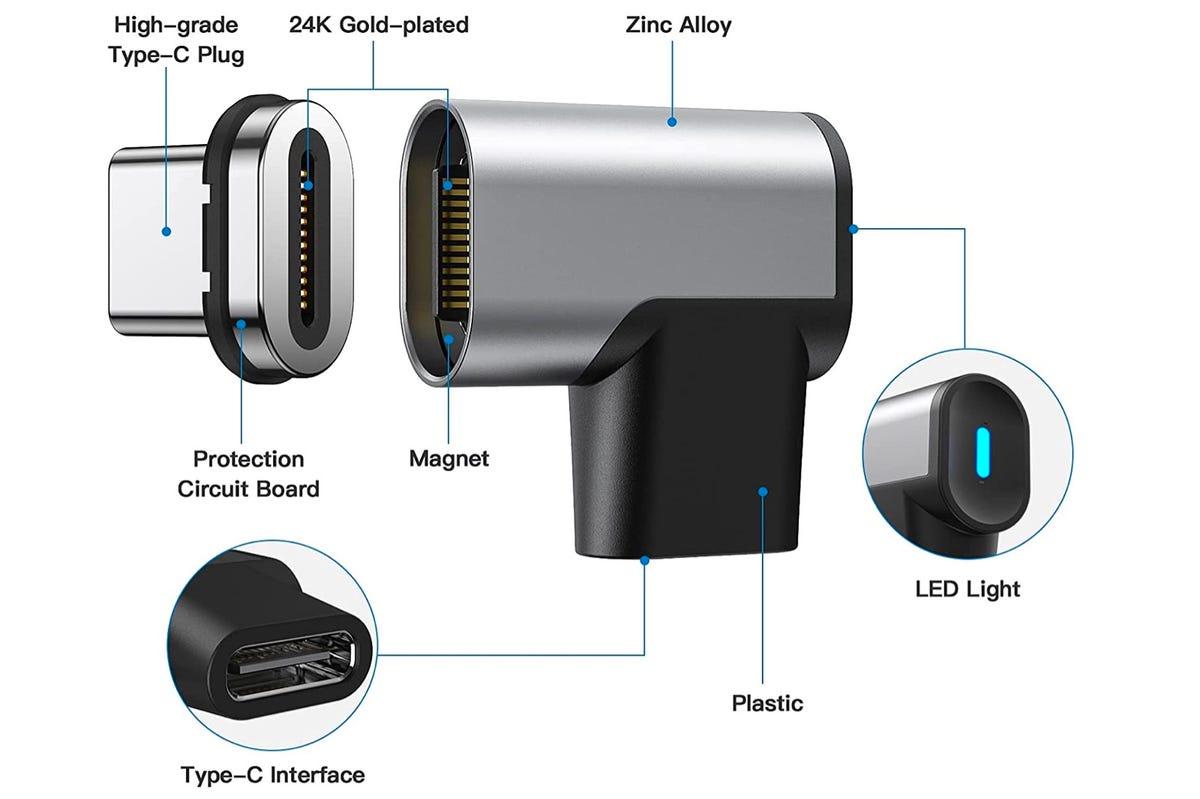 24-pins USB-C magnetische breakaway-connector
