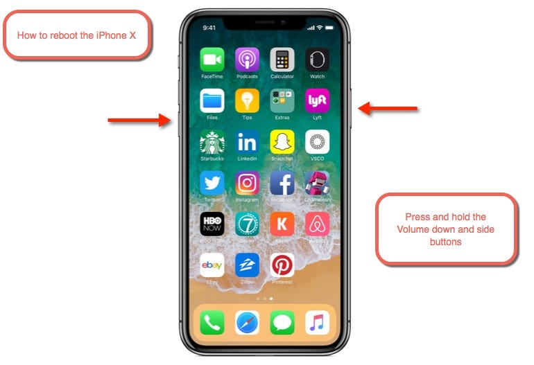 How to reboot the iPhone X
