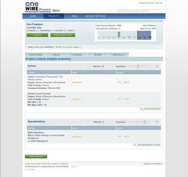 OneWire Finance Screen Shot