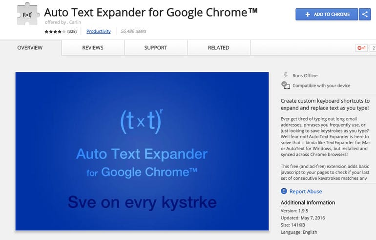 Auto Text Expander for Chrome (instead of TextExpander)