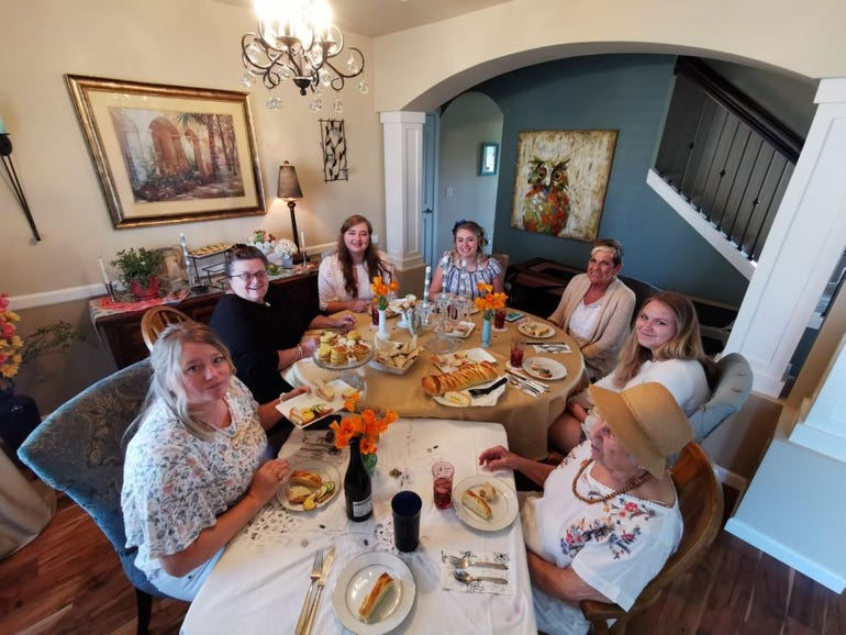 Wide angle to capture the ladies on Mother's Day