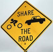 Share the Road sign