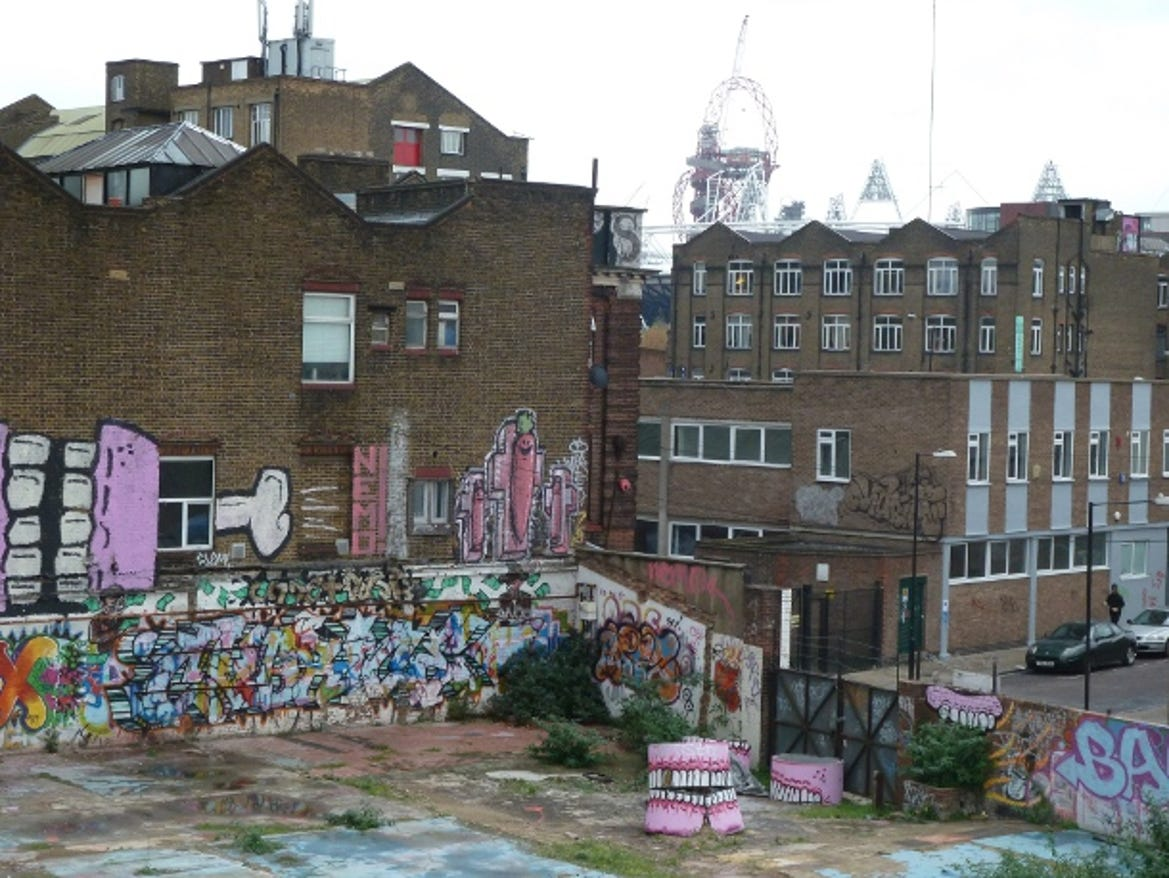 view from Hackney Wick overground station