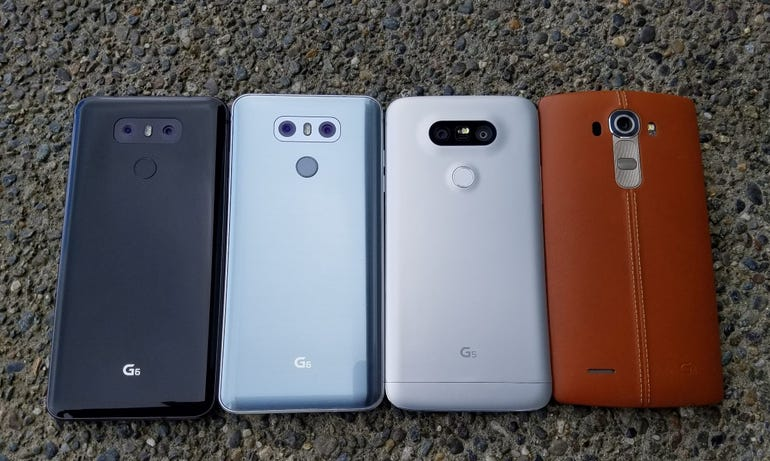 LG G6, LG G6, and LG G4 lineup