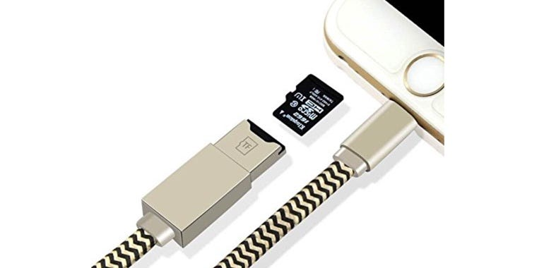 Valkit 2-in-1 Lightning cable and microSD card reader