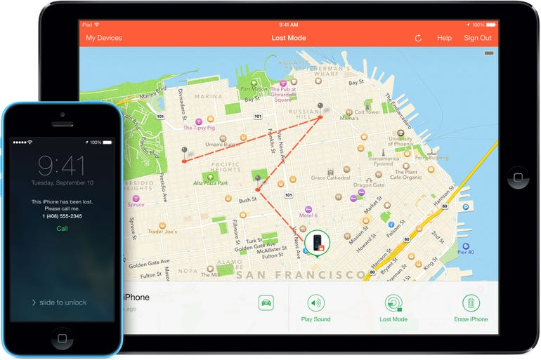 Enable Find My iPhone or iPad