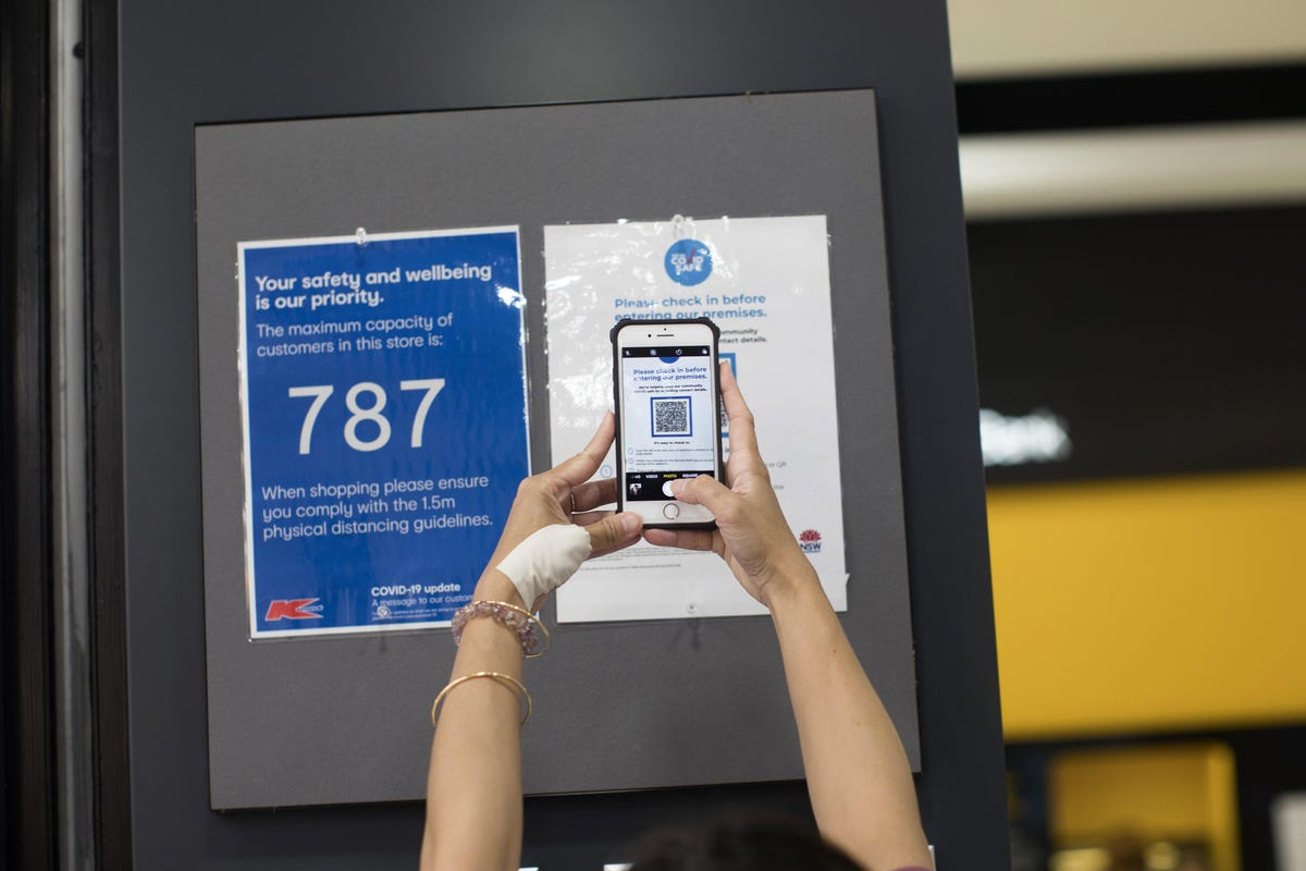 QR code check in NSW