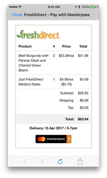 Shopping Cart: FreshDirect