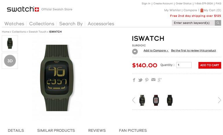 Swatch attempting to block Apple's iWatch trademarks - Jason O'Grady