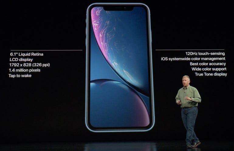 iPhone XR display highlights