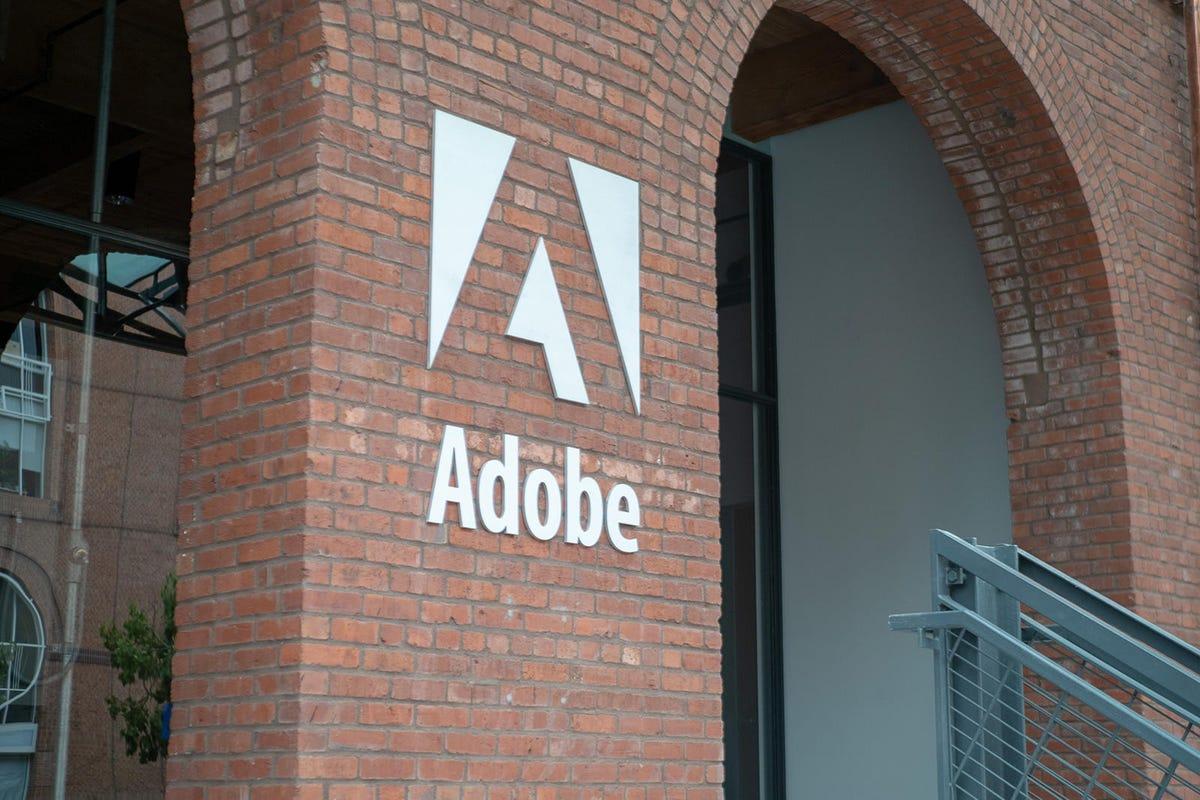 Entrance to Adobe San Francisco office location in historic Baker and Hamilton warehouse