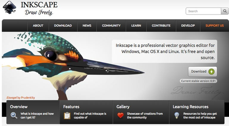 Inkscape (instead of Illustrator)