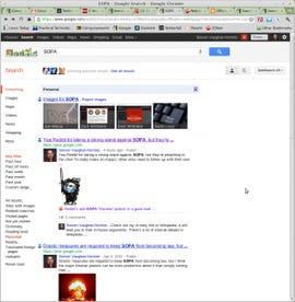 Google Search Plus for SOPA