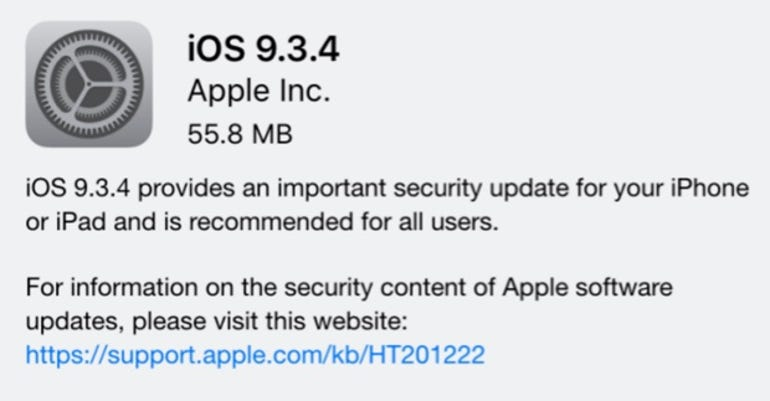 ​iOS 9.3.4 fixes a vulnerability used for jailbreaking iOS devices.