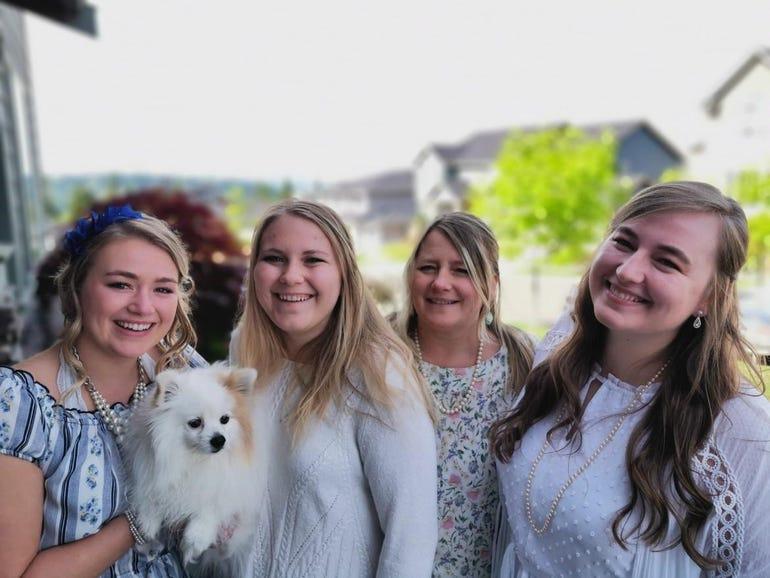 Miller family in portrait mode