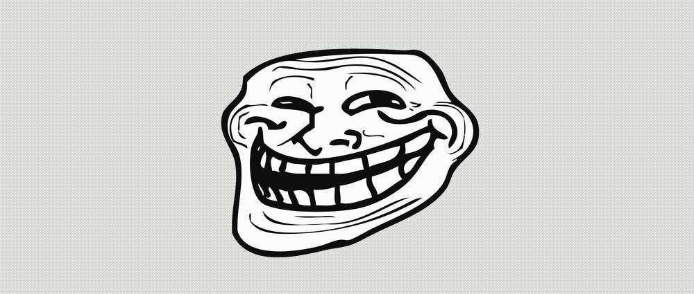 Derp trolling meme face
