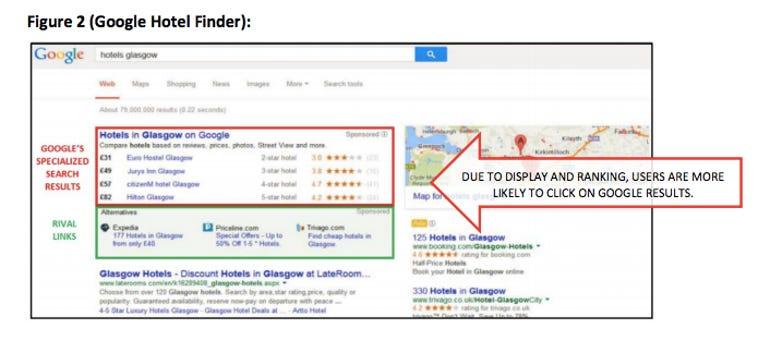 Microsoft's Google UK rival link experiment